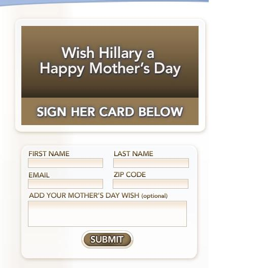 Hillary Clinton Mother's Day