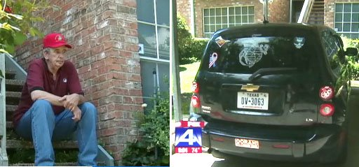 Disabled veteran Marine Frank Larison ordered by homeowners
