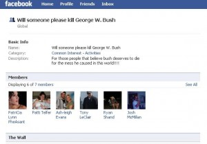 Facebook Bush Threat 5