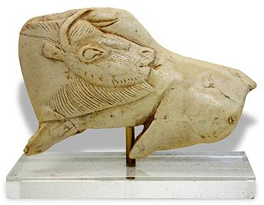 Bison Carved in Reindeer Antler, la Madeleine, France, ca. 12000 BC