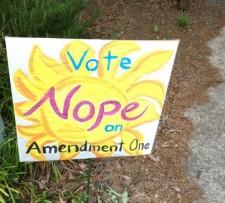 Against North Carolina Amendment One: 57-37