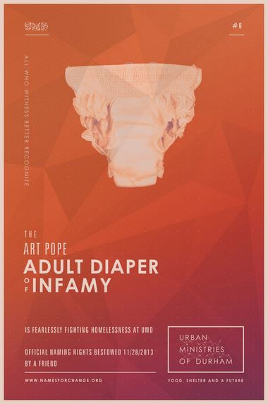 Art Pope Adult Diaper of Infamy