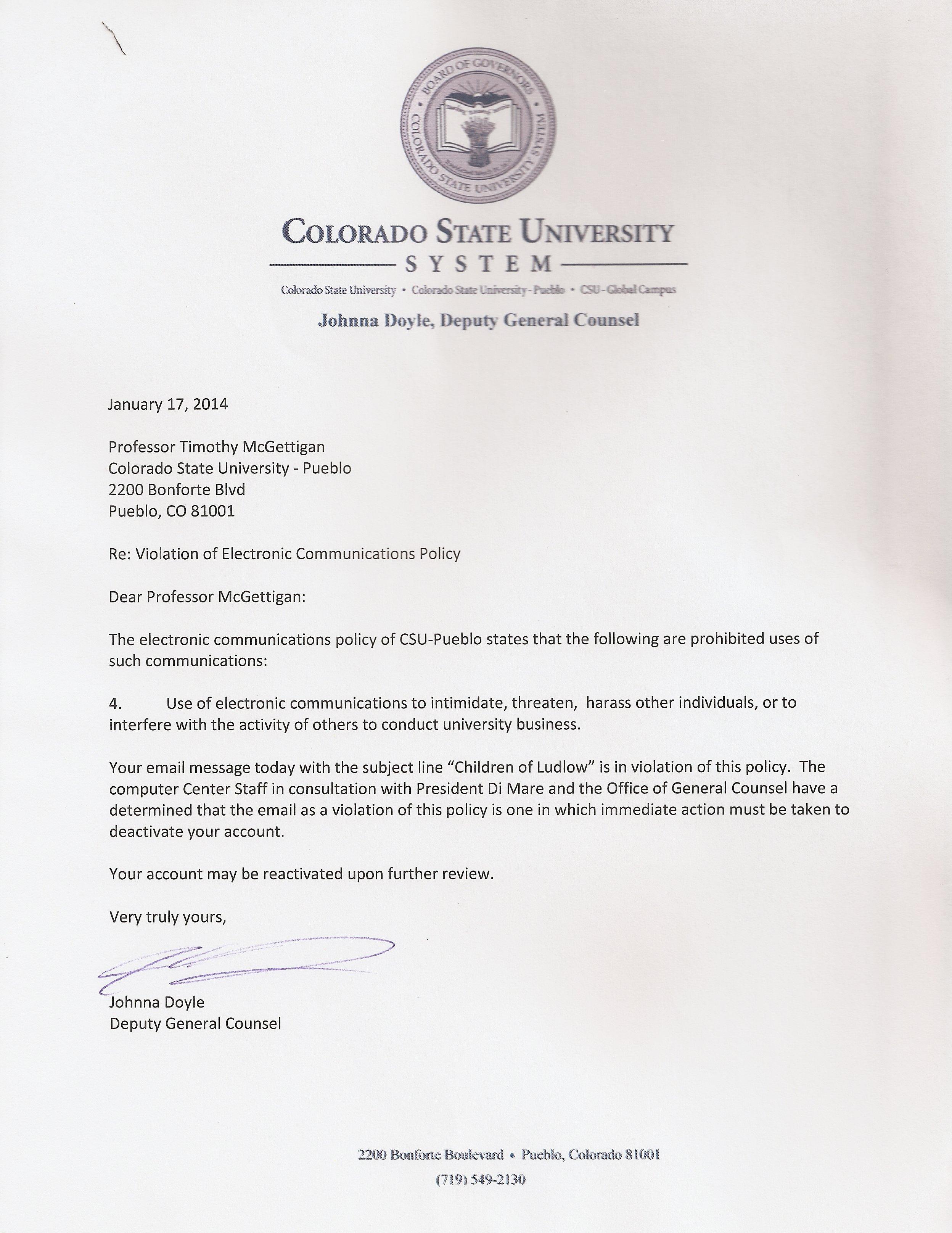 Colorado State University Pueblo Vigilant Against Metaphor Allusion