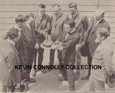 Houdini performing card manipulations, Kevin Connolly Collection