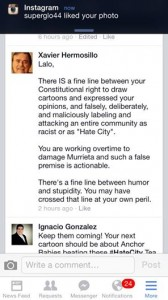 """Crisis Manager"" Xavier Hermosillo Shrewdly Defuses Immigration Tumult By Threatening Cartoonist"