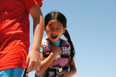 When my parents took me water-skiing here when I was 7, I cried.  This is how Elaina reacted at 7.